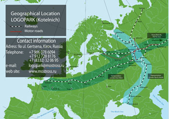 Geographical location LOGOPARK (Kotelnich)